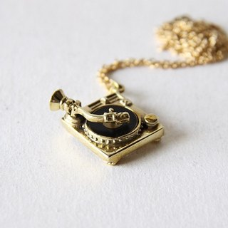 Turntable Charm Necklace - unique handmade jewelry