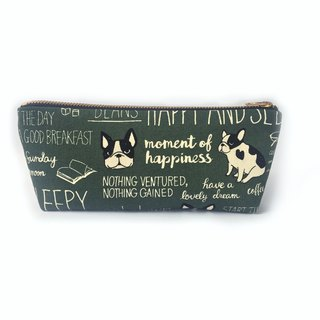 筆袋/化妝袋 French Bulldog Canvas Pencil Case, Cute Makeup Bag, Gift for Women
