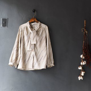 Heisui Mountain - Wakayama shallow rice wave-shaped spring zizan antique silk shirt shirt shirt oversize vintage