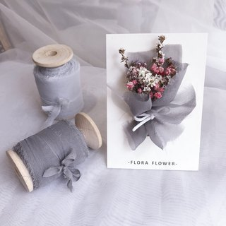 Dry flower card / velvet ribbon bouquet / handmade card / dry flower / Mother's Day gift / graduation card / Christmas card