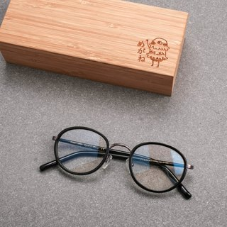 Korean retro small round frame carved glasses frame small box wild black