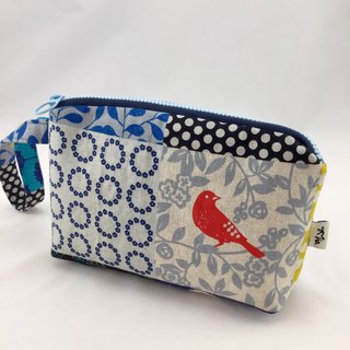 Colorful patchwork style - cosmetic bag / sundries / purse / universal bag