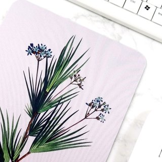 Green Plant Mouse Pad Botanical Art Desk Decorations For Women