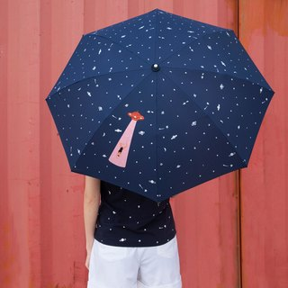 YIZISTORE women and two folding umbrella carom cloth printed manual creative small fresh sunny umbrellas umbrellas -UFO