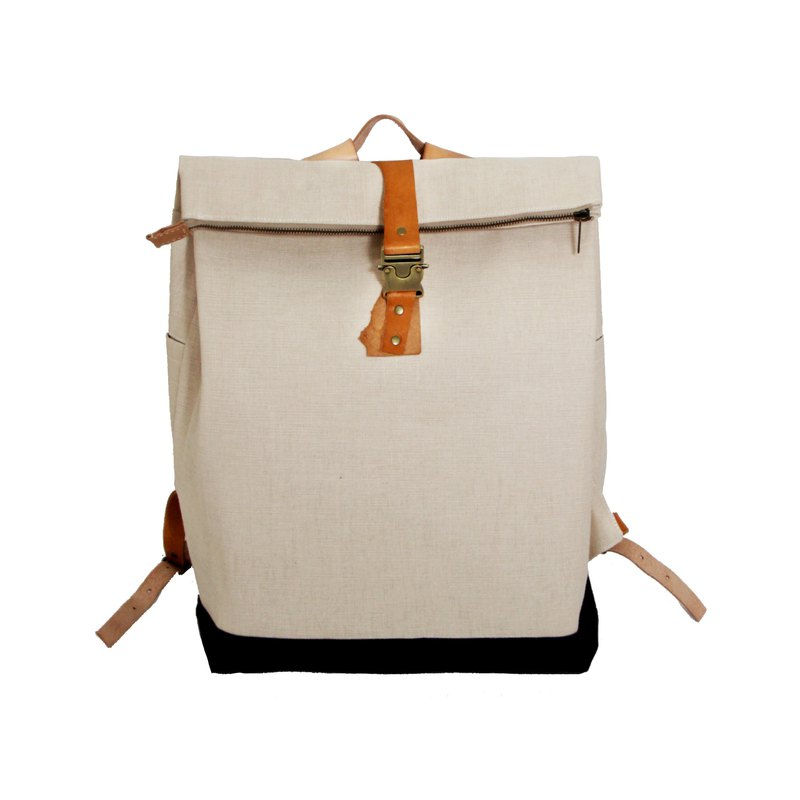 ZERO GRAM 紙纖雙色皮革後背包