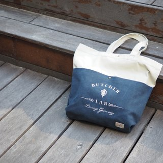 """Two-tone Tote"" tote bag single backpack navy blue color"