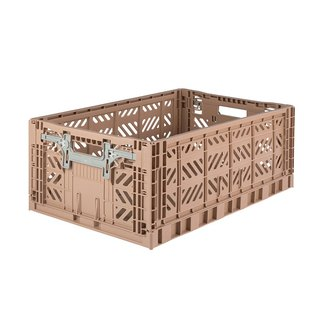 Turkey Aykasa Folding Storage Basket (L) - Hazelnut Cocoa