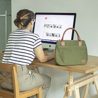 mono tote&shoulder bag - military green