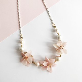 Real flower Beach Blossom Necklace