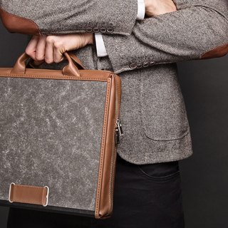 ad:acta Diplomat unique upcycling briefcase - German handmade