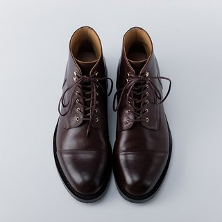CYC Handmade Shoes - CITY BOOTS DERBY Gentleman Boots Coffee Tire MTO Make a Single Line + Rear Chain