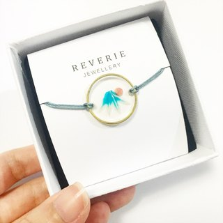 The Mount Fuji Bracelet  (Pressed Flower Bracelet)