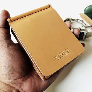 Wallet Money Clip Bi-fold V.3.1 Vegetable Nude Color Hand-cut