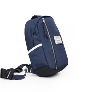 Matchwood Hunter Shoulder Bag One-Shoulder Backpack Navy Blue and White