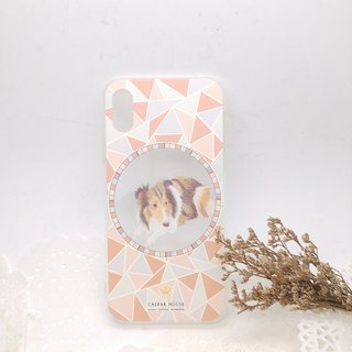 Mosaic Animal phone case - Shepherd dog