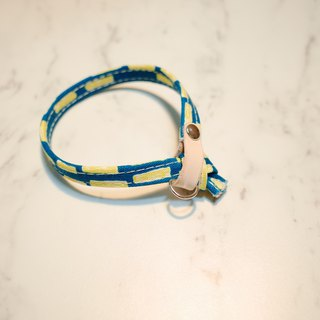 Cat collar yellow dotted hand-painted wind can add purchase tag