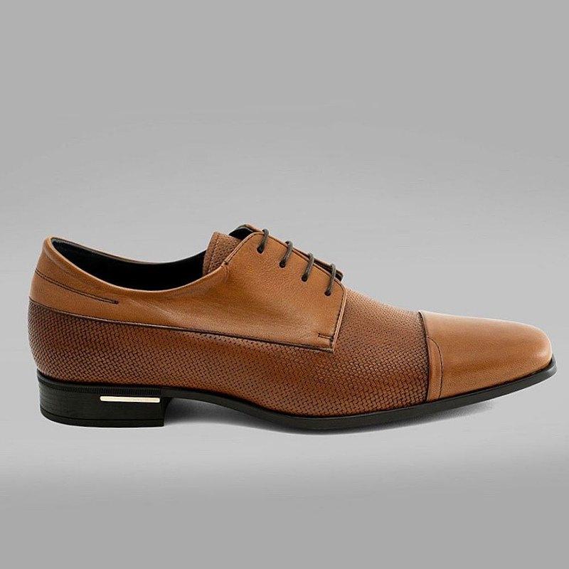 Angel Infantes 西班牙全真皮鏤空皮鞋-棕色