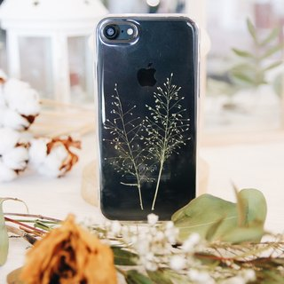 芒草吹起 • Handpressed Flower Phone Case