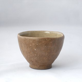 Brown cosmetic cup