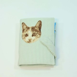 Embroidery tin loose-leaf notebook 02 cats