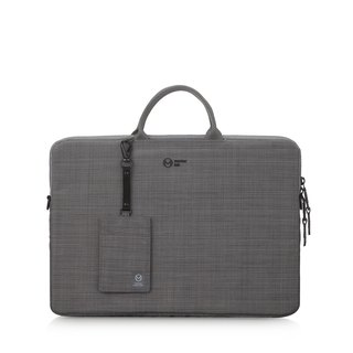 "<Lightweight wear-resistant certificate set> Clip13.3"" commuter lightweight side backpack - linen gray"