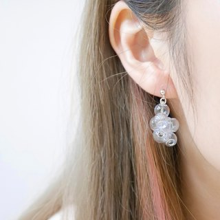 925 Sliver Serenity 005 Bubble Bubbles Earrings