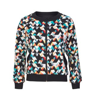 NO FIXED ABODE Geometric Womens Bomber Jacket