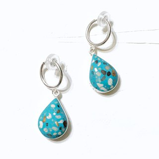 Terrazzo_ grindstone drop earrings