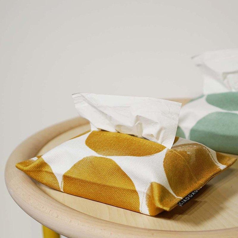 草稿CIAOGAO 獨立設計北歐民宿夏天車載紙巾套抽紙盒芥末黃薄荷綠