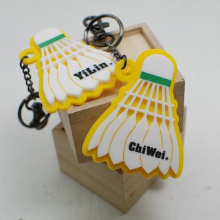 Badminton key ring order / name / school name / back number / anniversary / graduation gift