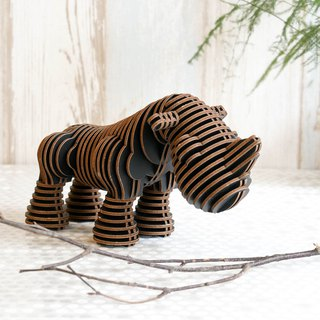 Ryan the Rhino/3D Craft Gift/Black