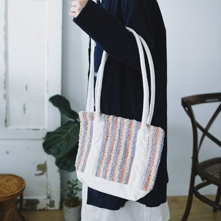 Syd and ling tote hand-woven heavy corduroy plant dyed tote bag