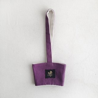 Purple plain canvas minimalist beverage bag