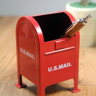 SUSS-Japan Magnets American Retro Post Shape Storage Pen Holder (Red) - Birthday Gift