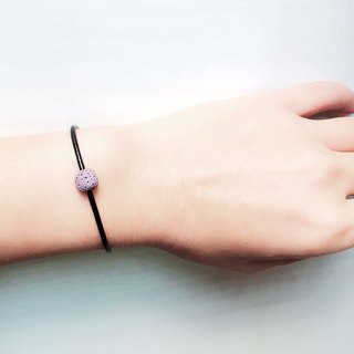 Purple Lava Rock Diffuser Thin Black Natural Leather Bracelet with Extend Chain
