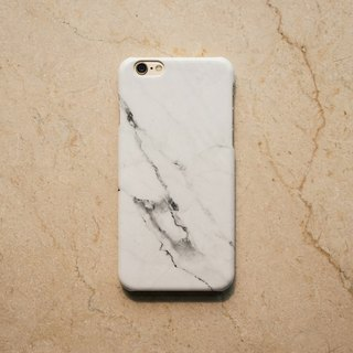 Hong Kong original brand Sell Good imitation marble texture glossy hard shell iPhone mobile phone shell - Snow White
