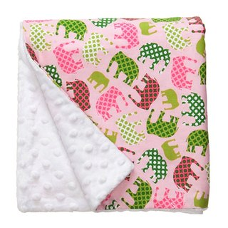 Pink elephant skin-friendly pea blanket / Mi-month gift birthday ceremony