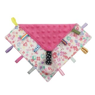 F21-handmade 2 in 1 handbell label appease towel can be used as pacifier chain Japanese double yarn X2 times = 4 layers