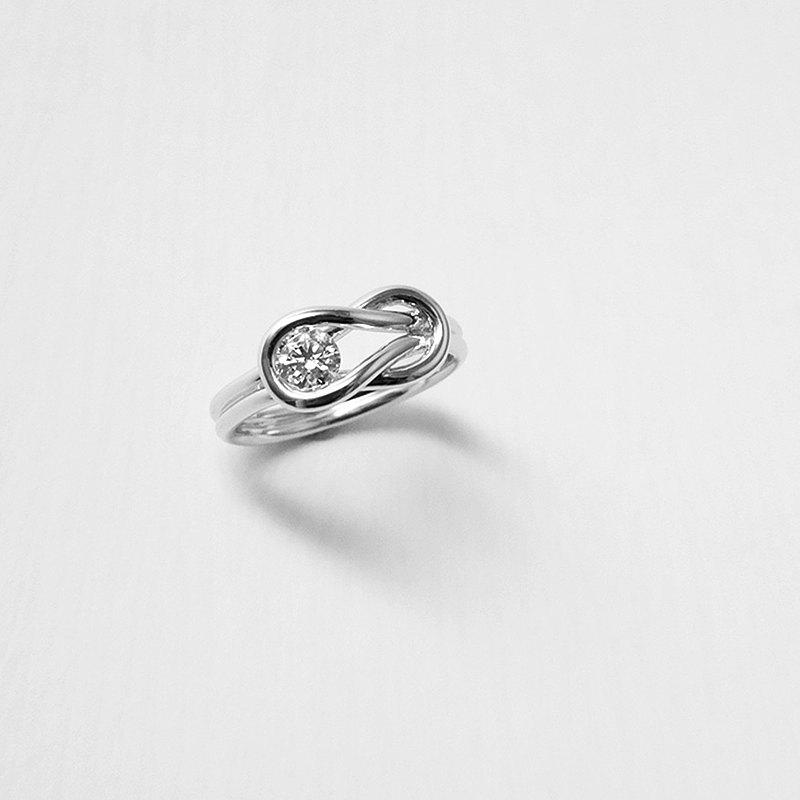18K金鑽戒 750手工製作 天然鑽石 個性-我們的約定