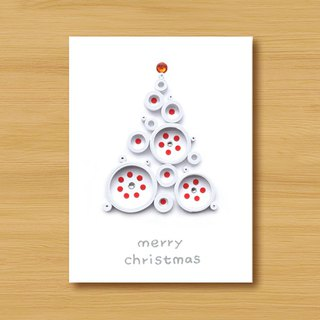 Handmade Roll Paper Christmas Card _ Blessings from afar ‧ Dream Bubble Christmas Tree _C