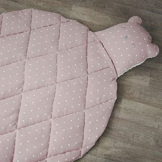 Baby play mat, Bear toy, Pink carpet