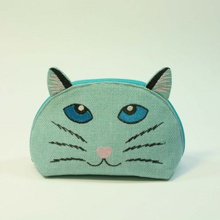 Embroidered Shell Makeup Pack 01 - Cat Head