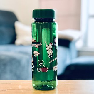 "WEMUG Lifestyle Water Bottle Tritan BPA Free Eco friendly""OLD HONG KONG"" - Green"