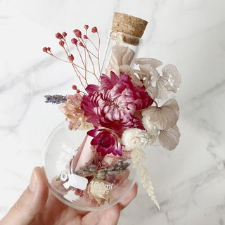 Trichotone - Dry flowers, cards, bottles of letters, Valentine's Day gifts