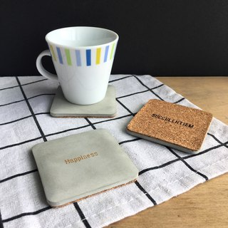 Back cup. Custom printing mini cement coasters. Founder