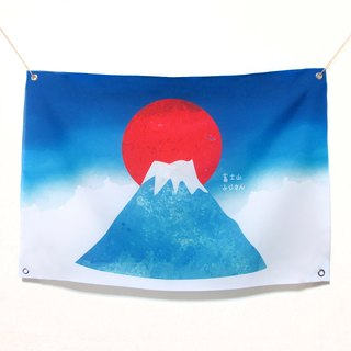 Mount Fuji rag cloth background cloth