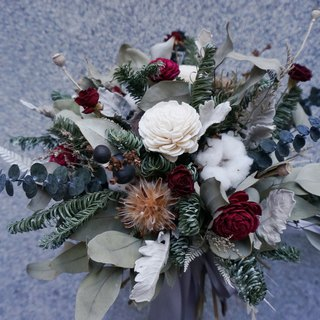 December Floral Course Christmas Qualified Nobelson Bouquet Christmas Experience Dry Flower Bouquet Bride