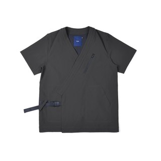 oqLiq - AdHeRe - Very Flat Open Short Sleeve Shirt (Black)