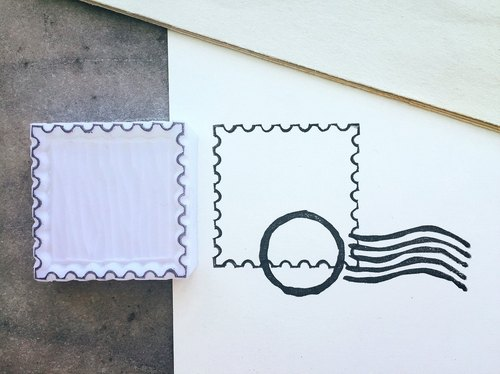 Cover which hand stamp [blank stamp]