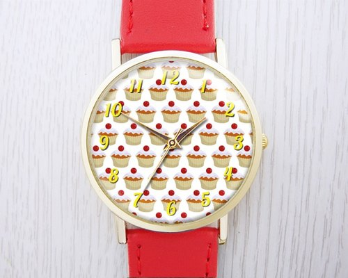 Cupcakes - Fashion leather strap watches ︱ ︱ ︱ men and women popular to wear with the best holiday gift items
